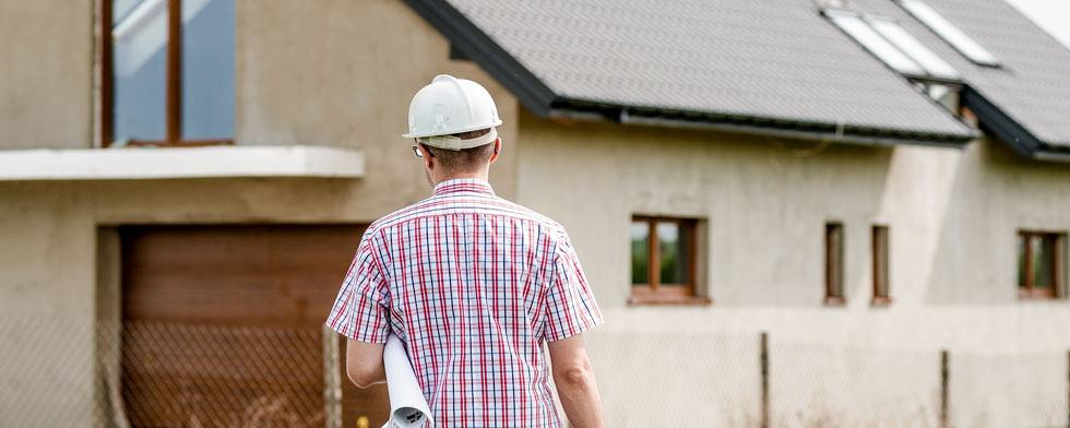 an architect looking at a property