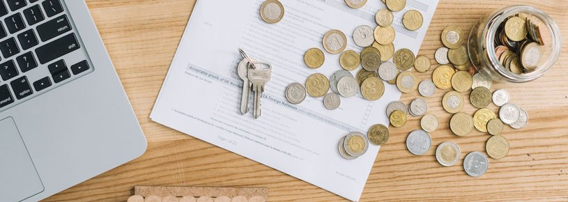 Coins and mortgage application