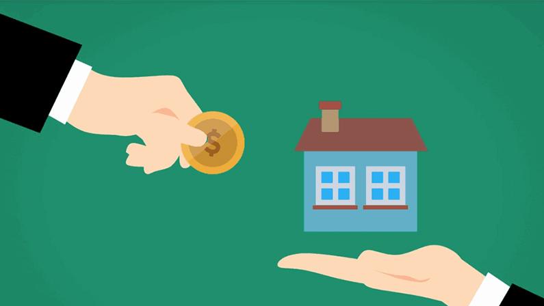 realtor house money exchange vector